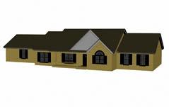 民房,房子3D建筑模型
