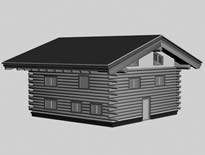 木屋,木房子3D模型
