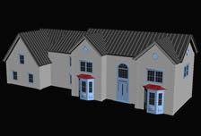 排屋,屋子,房屋3D模型