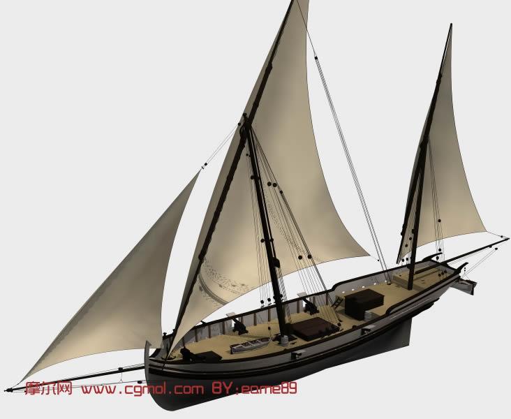 帆船3d模型