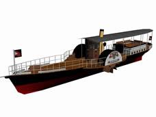 老式游轮,运输船3D模型