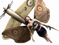 有蝴蝶翅膀的漂亮女人,maya人物模型