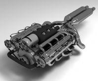 摩托引擎,摩托发动机3D模型(高模)