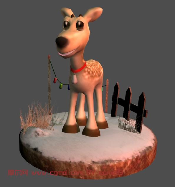 卡通 驯鹿/关键词:驯鹿卡通动物