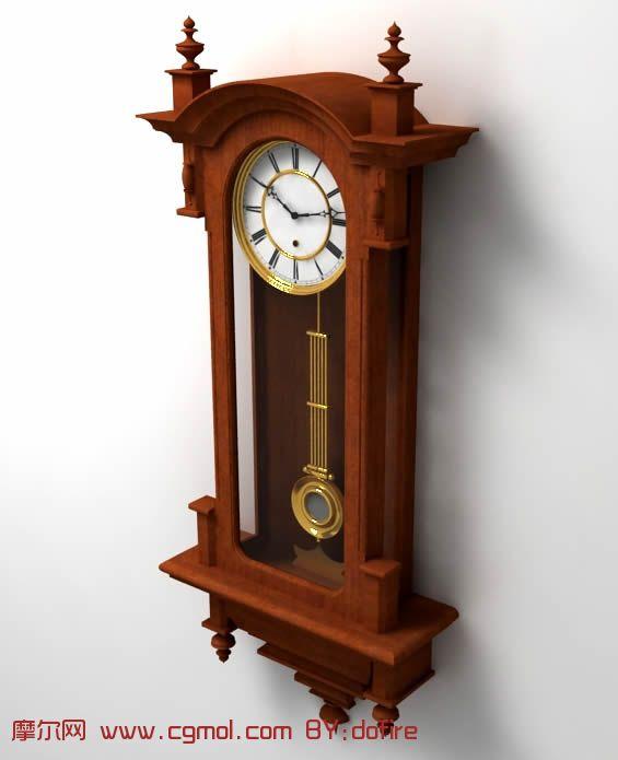 摆钟,钟表3d模型