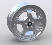宝马车轮,轮子3D模型