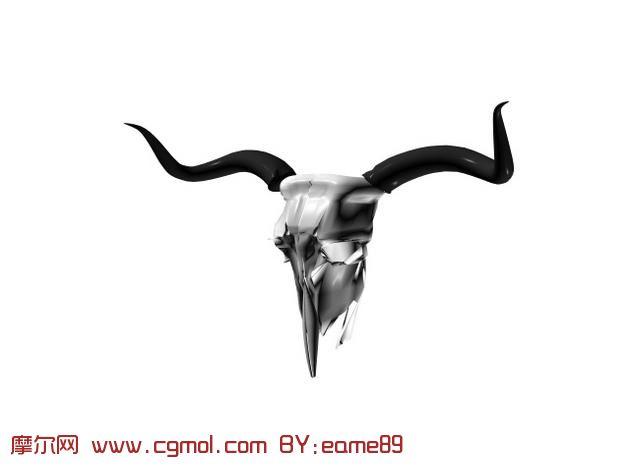 羊头骨3d模型,其他,动物模型
