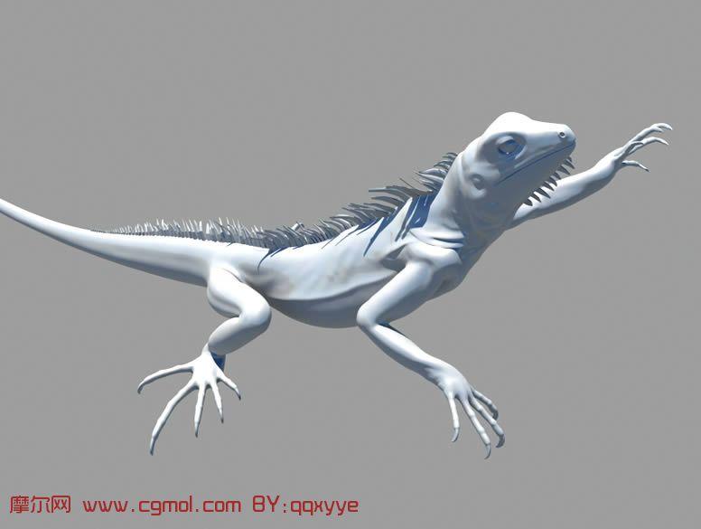 蜥蜴,maya动物模型