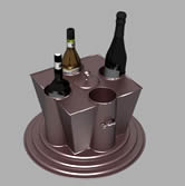 洋酒,酒瓶,酒具3D模型