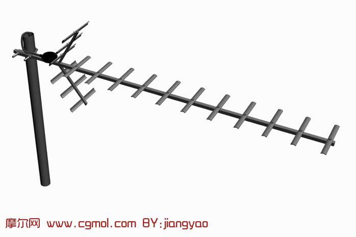 电视信号接收器,电视天线3D模型