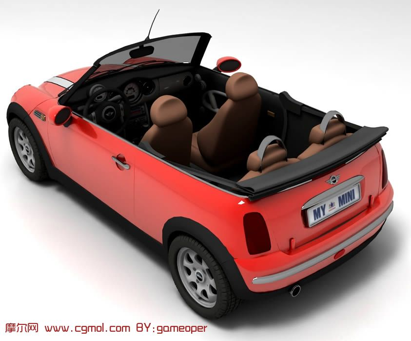 BMW宝马mini cooper汽车3D模型 带贴图高清图片