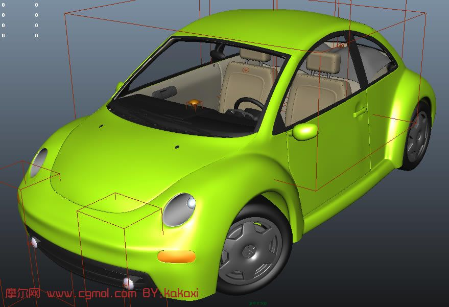 甲壳虫汽车,大众汽车,3D汽车模型高清图片