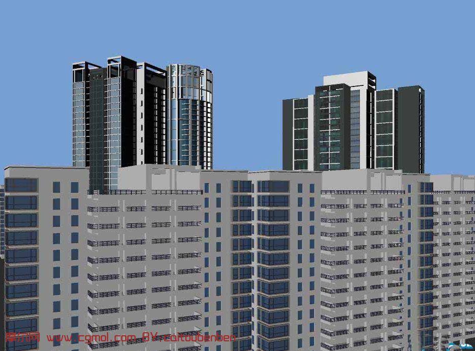 大楼建筑,办公楼,maya建筑模型 高清图片