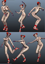 亚洲美女的maya模型(已绑定,贴图齐全,带完整舞蹈动作)