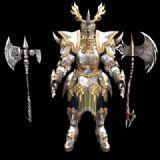 奇迹世界狂战士的黄金盔甲套装,3D游戏角色模型