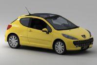 peugeot标致207两厢汽车3D模型