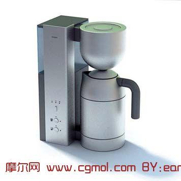 不锈钢咖啡机3D模型