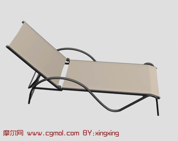沙滩椅,泳池休闲椅,太阳椅3D模型