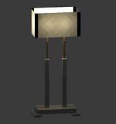 欧式台灯,落地灯3D模型