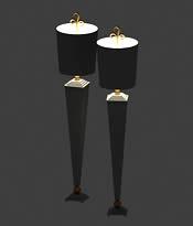欧式简约落地灯3D模型