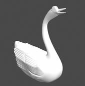 鹅雕塑3D模型