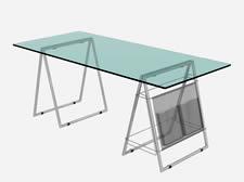 玻璃长桌3D模型