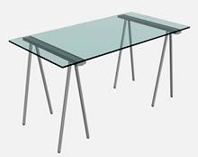 带支架的玻璃长桌3D模型