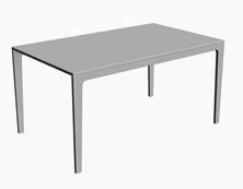 简约的白色长桌3D模型