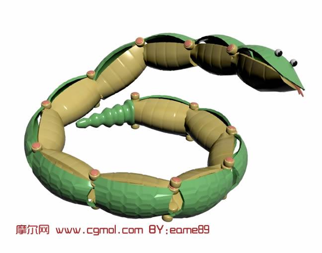 小青蛇,儿童3D玩具模型