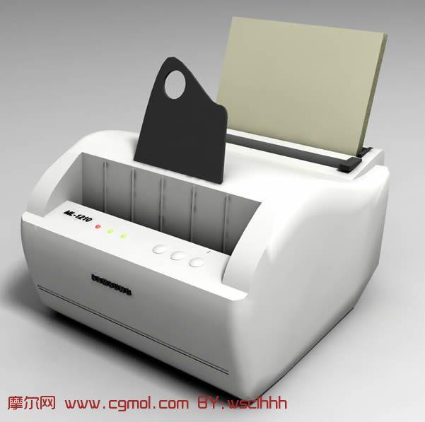 老式打印机3D模型
