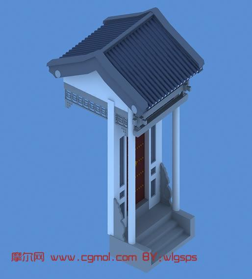 中式小门3d模型图片
