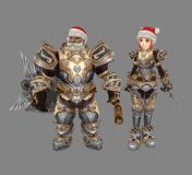 网游天堂2皇家骑士团套装3D模型