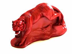 红木虎雕,雕塑装饰品3D模型