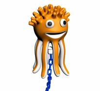 黄色小章鱼挂件3D模型