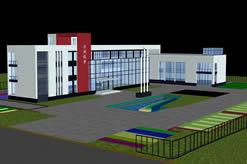 沙洲优黄酒厂厂房,3D建筑模型