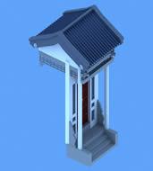 中式小门3D模型