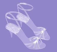 时尚水晶高跟鞋,凉鞋,水晶凉鞋3d模型