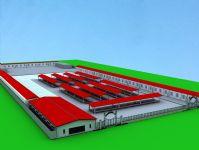 市场,菜市场草图,3D建筑模型
