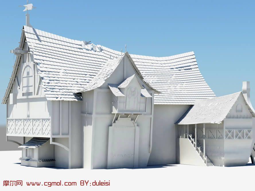 转载作品 房屋,房子maya模型 高清图片