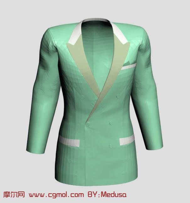 女性职业装,西服3D模型