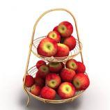 水果篮,水果架,苹果3D模型
