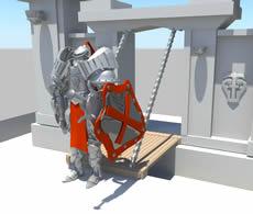 西方盔甲战士,maya模型