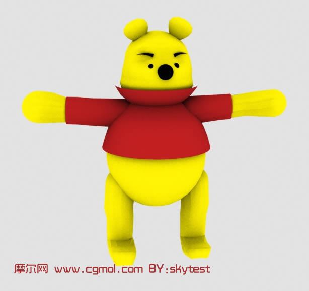 小熊维尼,3D卡通角色模型