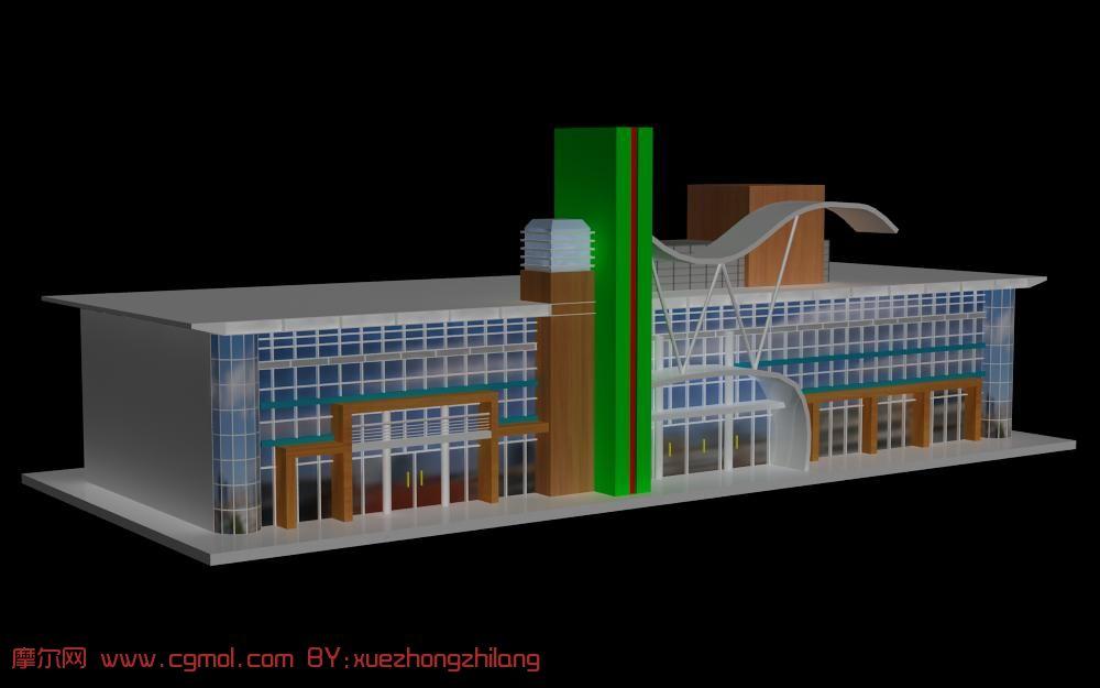 商场建筑,车站建筑,3d场景模型
