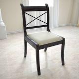 欧式黑色实木餐桌椅,3D家具模型
