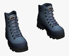 蓝色登山鞋3D模型
