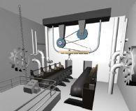 车间,机械化车间,3D场景模型