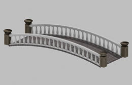 古桥,石桥,桥梁3D模型