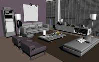 简易客厅,大厅3D模型