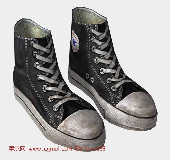 帆布鞋,鞋子3d模型